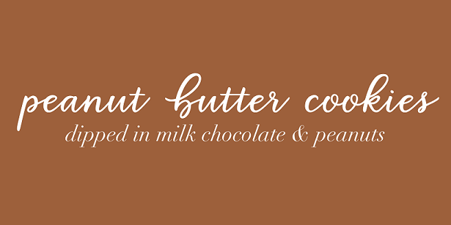 Peanut Butter Cookies Dipped in Milk Chocolate & Peanuts