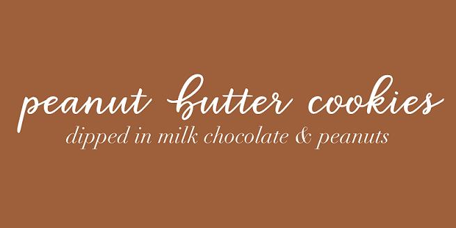 Peanut Butter Cookies Dipped in Milk Chocolate &Peanuts